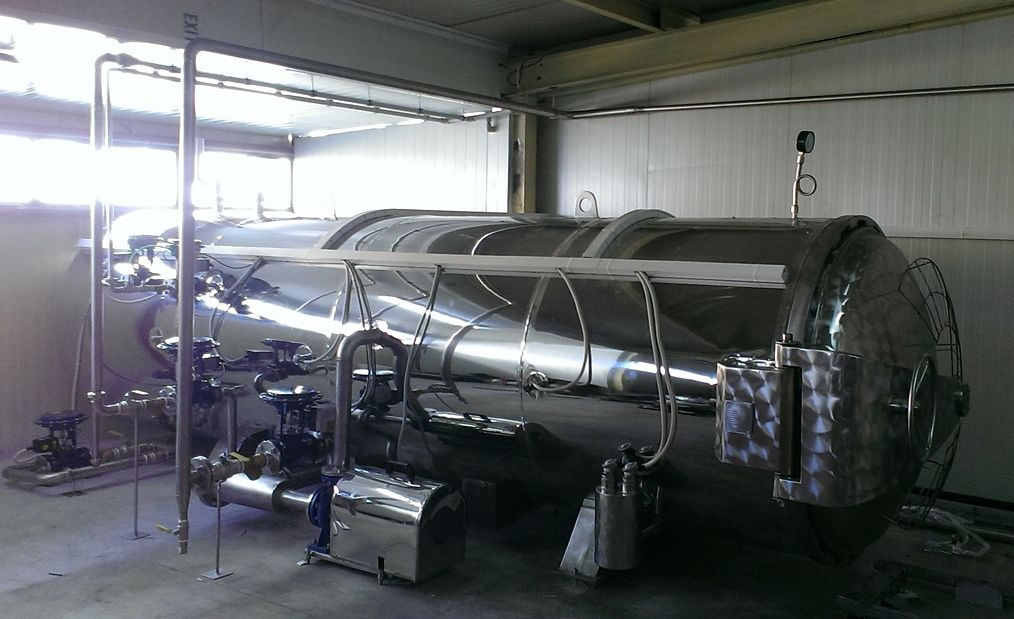 horizontal autoclave for sterilization