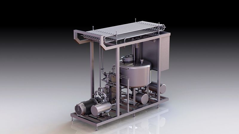 standard milk pasteurizer with cooling by dion engineering
